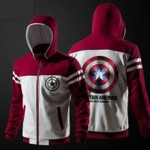 Agentes de Escudo Captain America Sudadera Hombre rojo Suéter