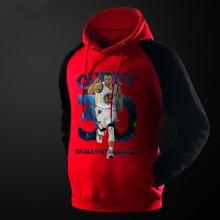 NBA Curry Sweatshirt Mens red Pullover Hoodie