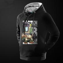 Cartoon Overwatch Bastion Hoodie Black Mens Sweater