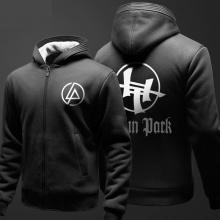 Linkin Park Zipper Sweatshirt Men Black Hoodies