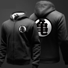 Dragon Ball Z Kame Sennin Sweater Invierno Zip Up Negro Dbz Hoodie Regalos Para El