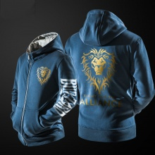 Cool WOW Alliance Hoodie Black World Of Warcraft Clothing For Him