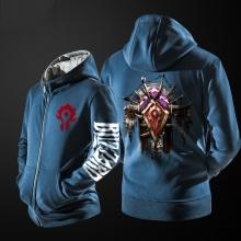 Blizzard World Of Warcraft Horde Logo Hoodie Black ZIp Up Mens Clothing