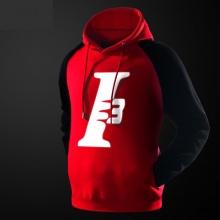 NBA Allen Iverson Hoodie Hombres rojo sudadera con capucha