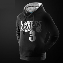 NBA Allen Iverson Sweatshirt Mens Black 3XL Hoodie