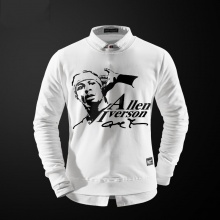 NBA Allen Iverson Crewneck Suéter Hombre blanco Hoodies