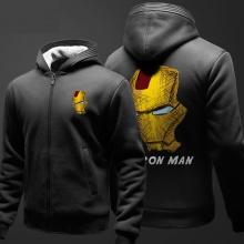 Iron Man Sweat Shirts Mens Black Hoodie