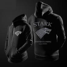 Quality Game of Thrones House Stark Dire Wolf Sweatshirt Men Black Hoodie