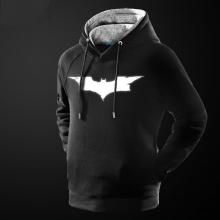 Luminous Batman Logo Sweatshirt Mens Black Marvel Superhero Hoodie