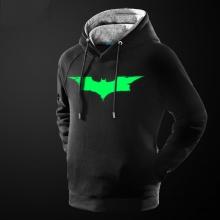 Luminous Batman Pullover Hoodie Black Cotton Marvel Batman Hooded Sweatshirt for Men