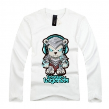 White Long Sleeve league of leagends Volibear Tee Shirts For Youth