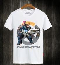 Blizzard Overwatch Zarya Mens White Tshirt