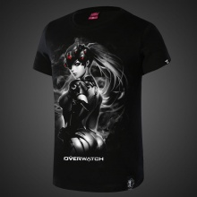 Widowmaker Overwatch Hero Tees 4XL Black Tshirt For Mens