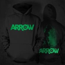 Black Marvel Superhero Green Arrow Hoodie For mens