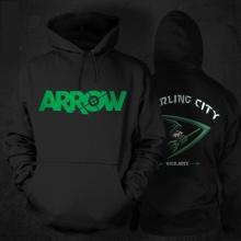 Cool Black Green Arrow Hoodie For Sale
