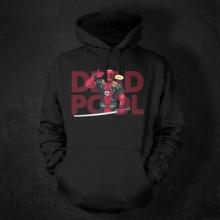Cool Marvel Deadpool Hoodie Mens Black 3xl Superhero Sweatshirt