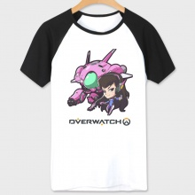 White Overwatch D.Va T-shirts for Couple