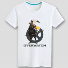 White Blizzard Overwatch Hanzo Tshirts
