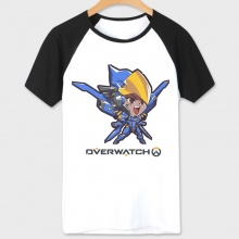 Blizzard Game Overwatch Pharah T-shirts Couples White Tees