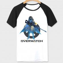 White Over Watch Hero Pharah T-shirt Unisex White Couple Tees