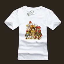 Cool One Piece Luffy Family White Black Tshirts For Mens