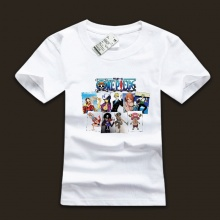 Cool One Piece Straw Hat Pirates T-shirts For Boys