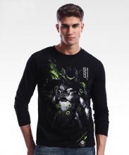 Overwatch Genji Long Sleeve T-shirt Blizard OW Hero black Tee Shirts For Young