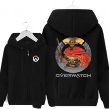 Overwatch Cs Mccree Hoodie Men Gray Hooded Sweatshirts