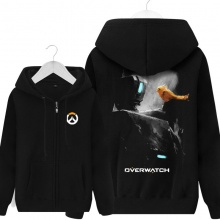 Overwatch Game Bastion Hoody For Men black Hoodie
