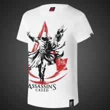 Ink Print Assassin's Creed Tshirts Mens White Shirt
