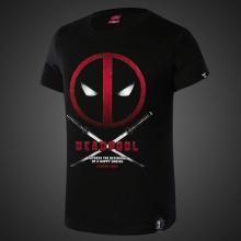 Cool Design Deadpool Tee For Mens Black T Shirts