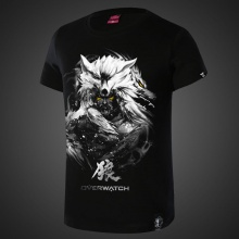 Darkness Overwatch Hanzo Tees For Men Black T-shirts