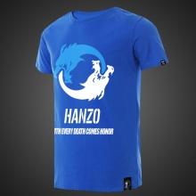 Lovely Overwatch Hanzo T-shirts Mens Blue Tee Shirt
