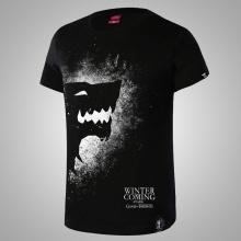 Direwolf Game of Thrones House Stark Tee Men Black Tshirts