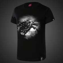 Game of Thrones House Stark Tee For Boys Black Tshirts