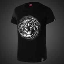 Game of Thrones House Targaryen T-shirts Mens Black Tee Shirt