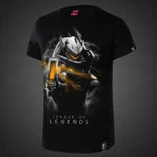 Darkness Purifier League of Legends Lucian Tees For Men Black T-shirts