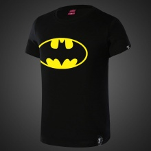 Black Batman Logo T-shirt Marvel Superman Tees