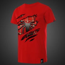 Spiderman Tshirt Mens Red Tee
