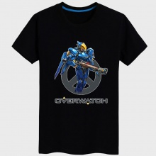 Overwatch Pharah Tees black T-shirts For Young