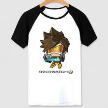 Cartoon Overwatch Tracer Shirt Women white Tshirts