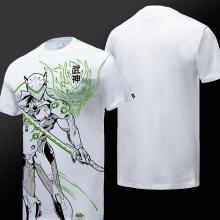 Camiseta para hombre de blanco Blizzard Overwatch Genji T Shirts