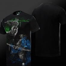 Overwatch Genji Hero Shirts Mens Black T-shirt