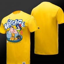 Funny Dragon Ball Majin Buu T-shirt Massage Mens Boys Yellow 3XL Tees