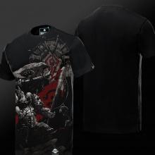 3D World of Warcraft Garrosh Hellscream T-shirts Mens 3xl Black WOW Games Tees