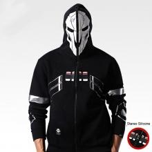 Overwatch Reaper Cosplay sudaderas con capucha para hombre de la cara llena Zip Up OW Juego Sudaderas