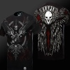 Quality Blizzard Overwatch Reaper T-shirt Black OW Cosplay Tee Shirts