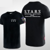 Resident Evil Stars Logo T-shirts For Young Black Tees