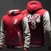 NBA Allen Iverson Sweatshirt Mens Black Zip Hoody
