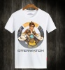 Overwatch Tracer Unisex White Plus Size T-Shirt
